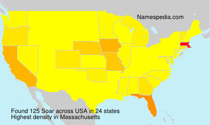 Surname Soar in USA