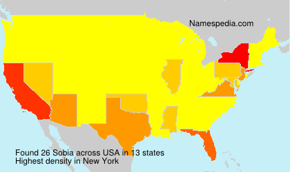 Surname Sobia in USA
