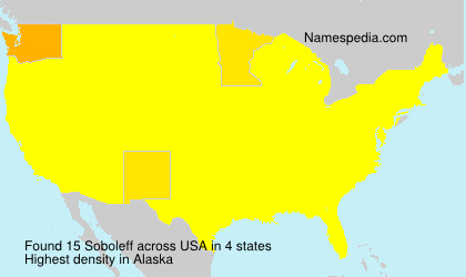 Surname Soboleff in USA