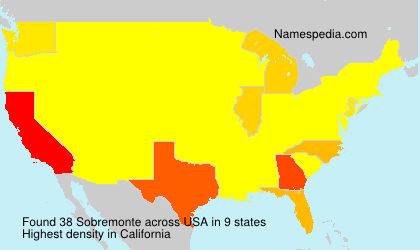 Surname Sobremonte in USA