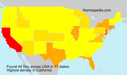 Surname Soc in USA