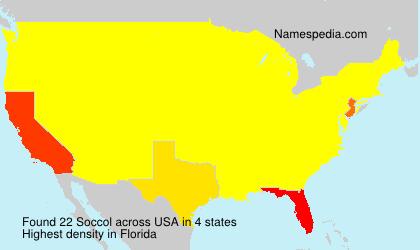 Familiennamen Soccol - USA