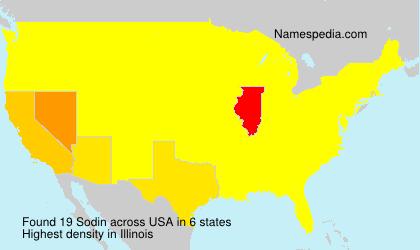 Familiennamen Sodin - USA