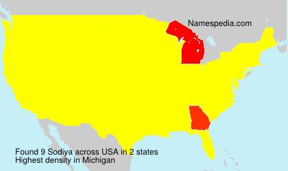Familiennamen Sodiya - USA