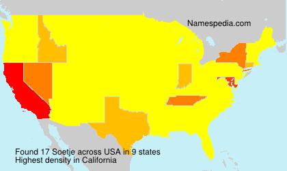Familiennamen Soetje - USA