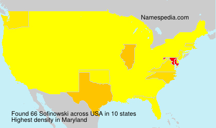 Surname Sofinowski in USA