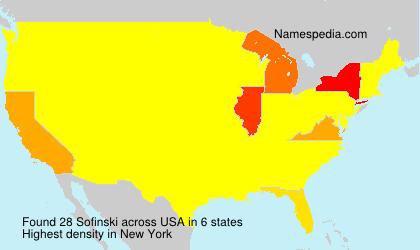 Surname Sofinski in USA