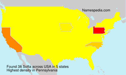 Surname Softa in USA