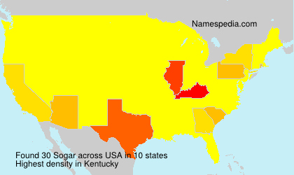 Surname Sogar in USA