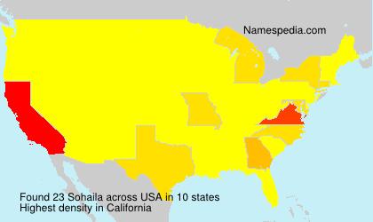 Surname Sohaila in USA