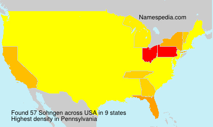 Surname Sohngen in USA