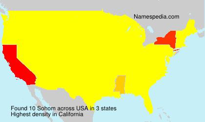Surname Sohom in USA