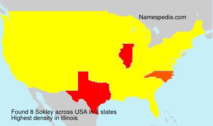 Surname Sokley in USA