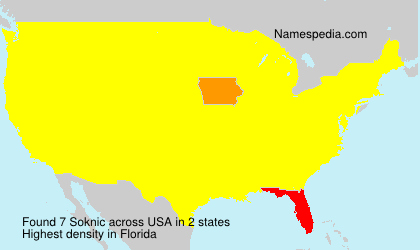 Surname Soknic in USA