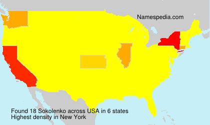 Surname Sokolenko in USA