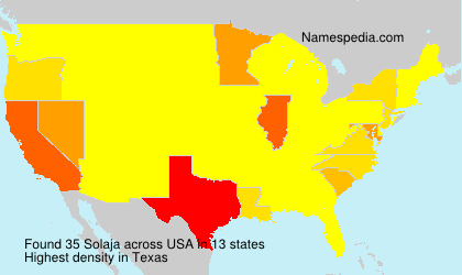 Surname Solaja in USA