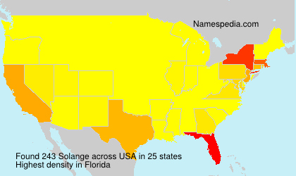Surname Solange in USA