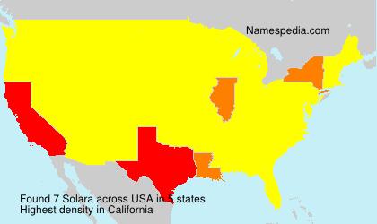 Surname Solara in USA