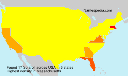 Surname Solaroli in USA
