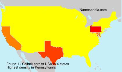 Surname Solbak in USA