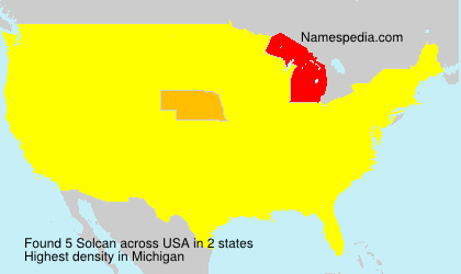Surname Solcan in USA