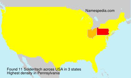 Surname Solderitsch in USA