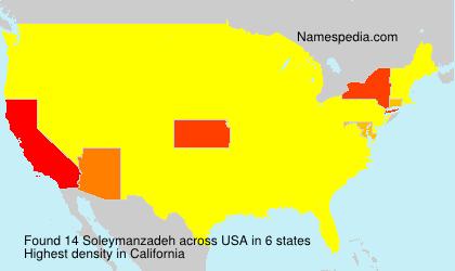 Surname Soleymanzadeh in USA