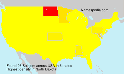 Surname Solhjem in USA
