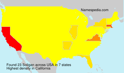Surname Soligan in USA