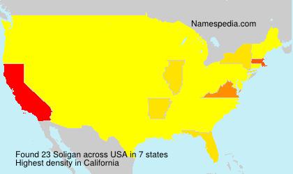 Surname Soligan in USA
