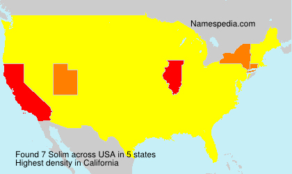 Surname Solim in USA