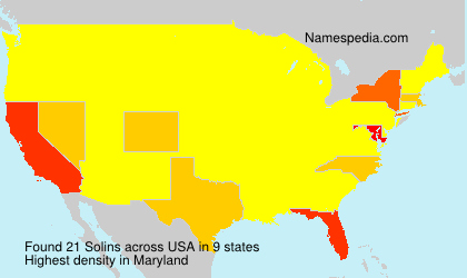 Surname Solins in USA