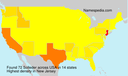 Surname Solleder in USA