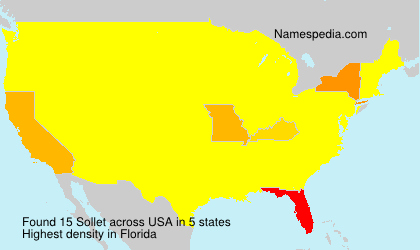 Surname Sollet in USA