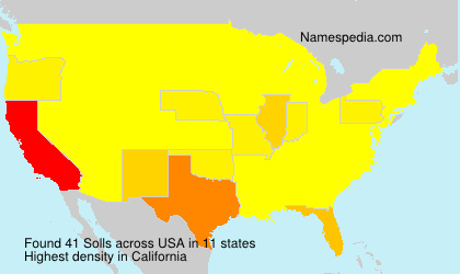 Surname Solls in USA