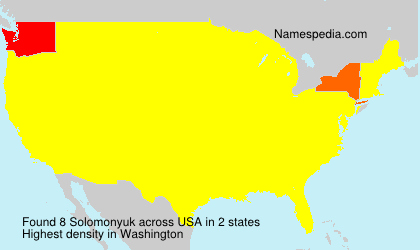 Surname Solomonyuk in USA