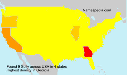 Surname Solty in USA