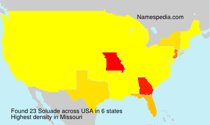 Surname Soluade in USA