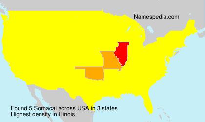 Familiennamen Somacal - USA