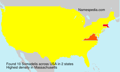 Surname Somadelis in USA