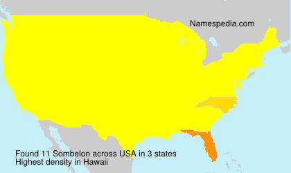 Surname Sombelon in USA