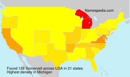 Familiennamen Somervell - USA