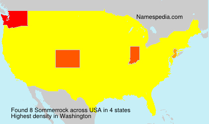 Surname Sommerrock in USA