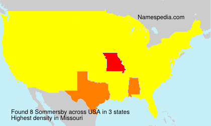 Surname Sommersby in USA