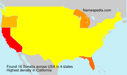 Surname Sonalia in USA