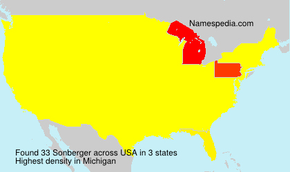 Surname Sonberger in USA