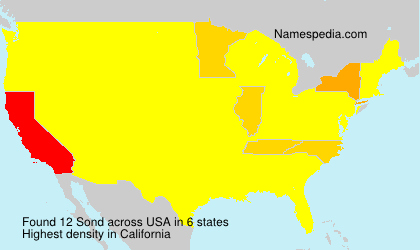 Surname Sond in USA