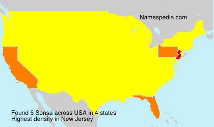 Surname Sonsa in USA