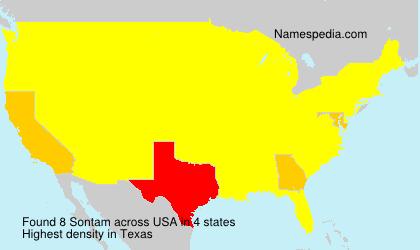 Familiennamen Sontam - USA