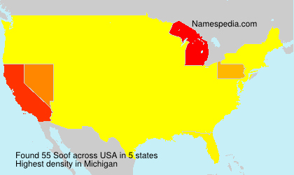 Surname Soof in USA